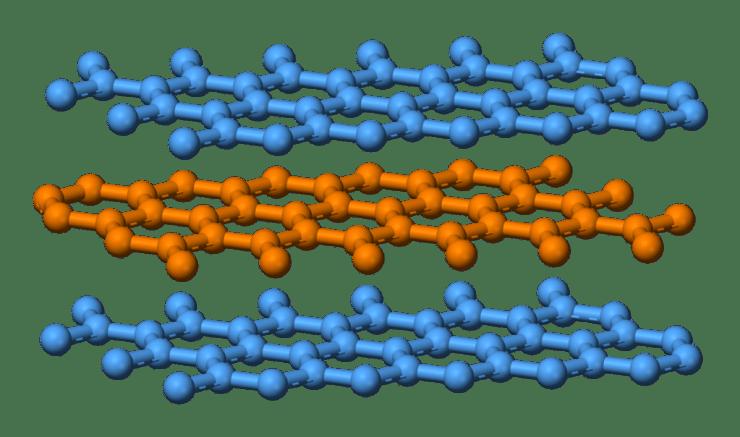 Graphite-layers-side-3D-balls