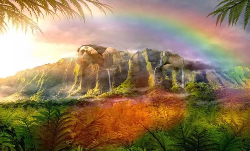 Hawaii yerel halkının inancına göre tanrıça Haumea böyle tasvir ediliyor.