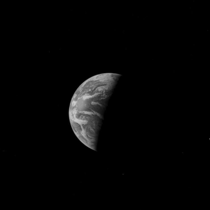 Apollo 11 görevi sırasında çekilmiş Dünya fotoğrafı.
