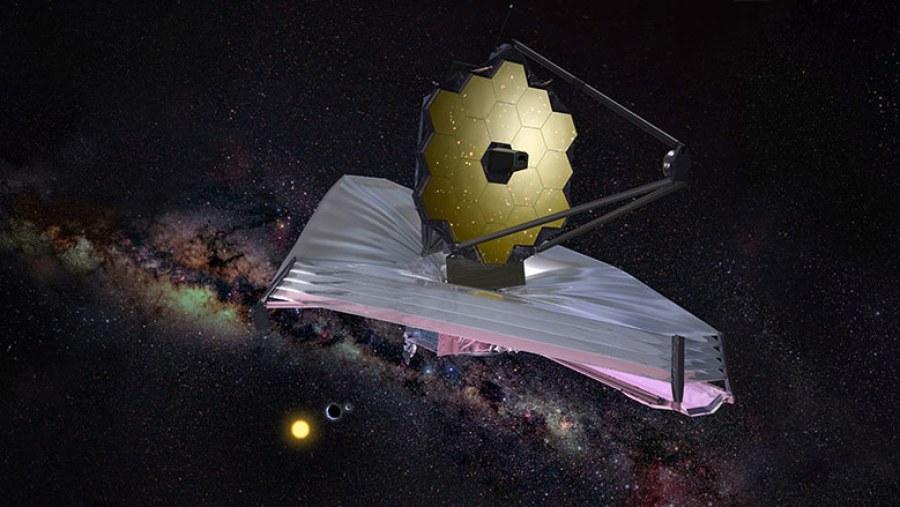 Aynası, yani gözleri her türlü tehlikeye açık biçimde tasarlanmış James Webb Uzay Teleskobu.