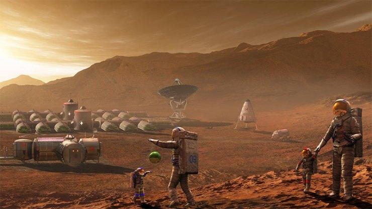 """Mars'ta çocuk yetiştirmek... Kolonist annelerin en sık kullanacağı cümle sanırım şu olur: """"uzay elbisesini 2 beden büyük alalım, büyüyünce de giyer""""..."""