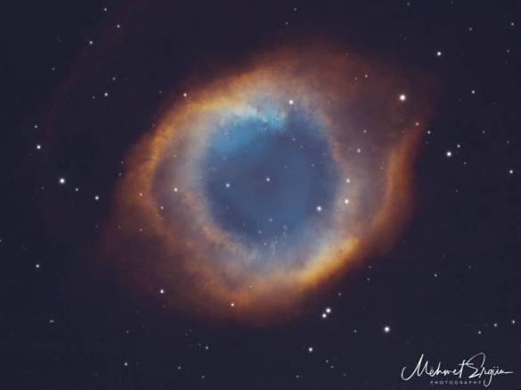 Ring (Halka) Nebulası. Fotoğraf, uzman astrofotoğrafçı Mehmet Ergün tarafından çekilmiştir.