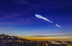 Günün Gökbilim Görüntüsü (24-12-2017) SpaceX Falcon 9 Roketinin İzi