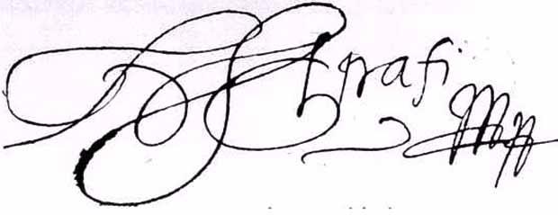 Apaffi Mihály aláírása