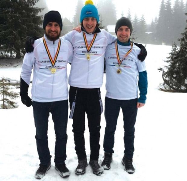 Szép Zoltán, Suciu Simion és Vaszi Benedek országos bajnokok sítájfutásban 2016-ban