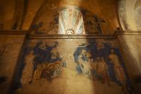 Fresque du monastère d'Abu Gosh, lieu supposé de la rencontre d'Emmaüs.