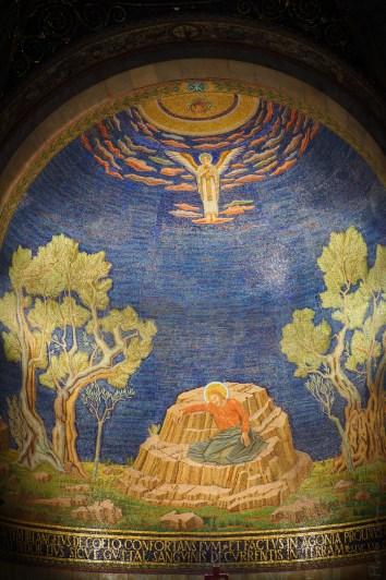 Mosaïque dans l'église de Gethsémani.