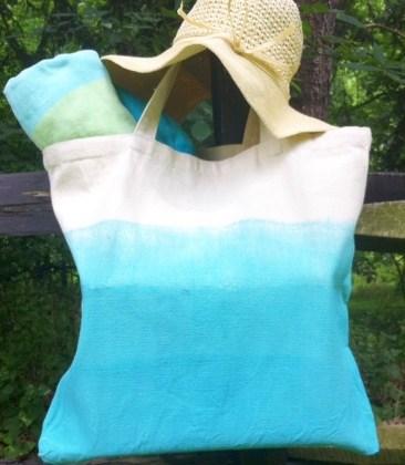 DIY Dip Dyed Tote Bag