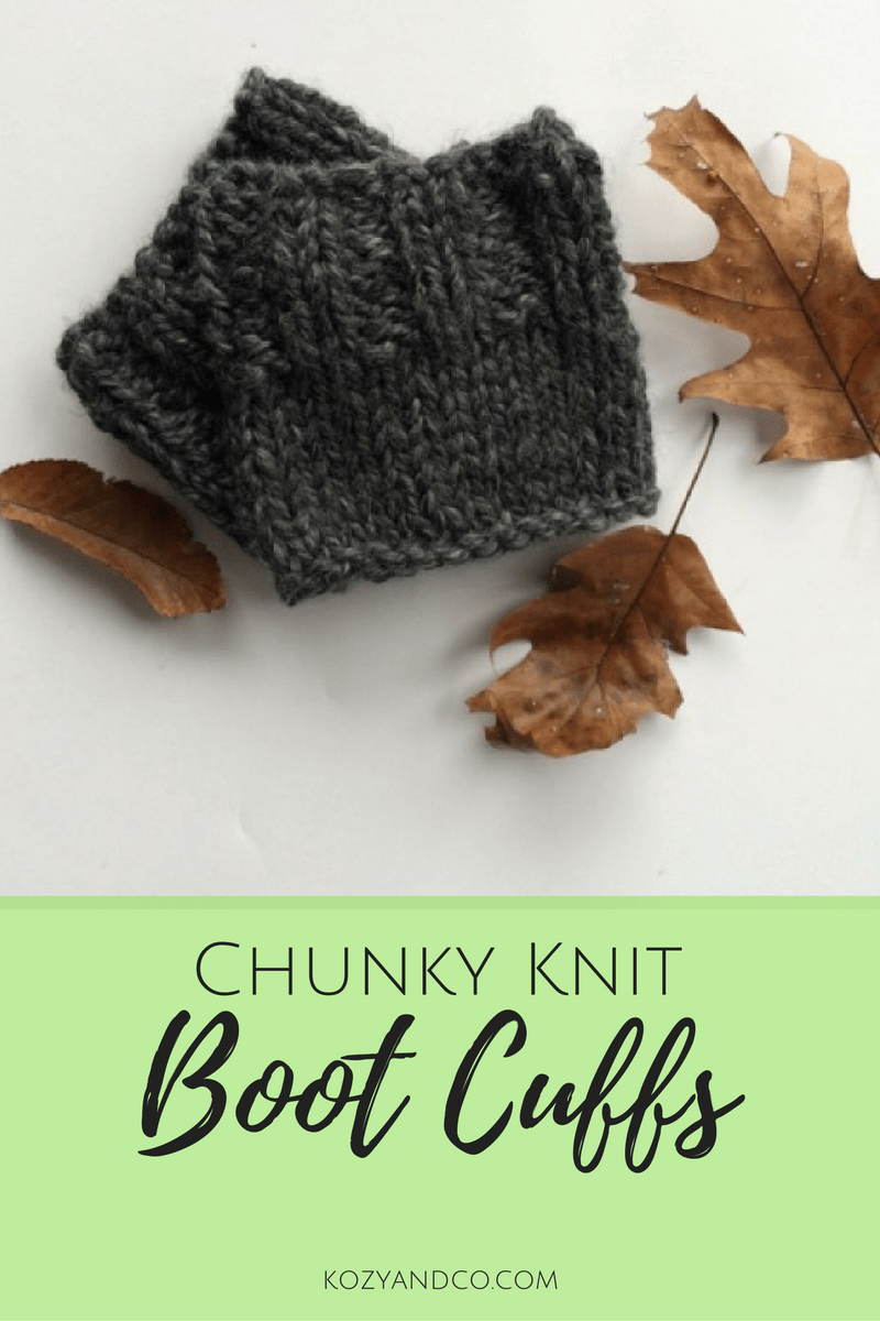 Chunky Knit Boot Cuffs | A Pattern - Kozy and Co