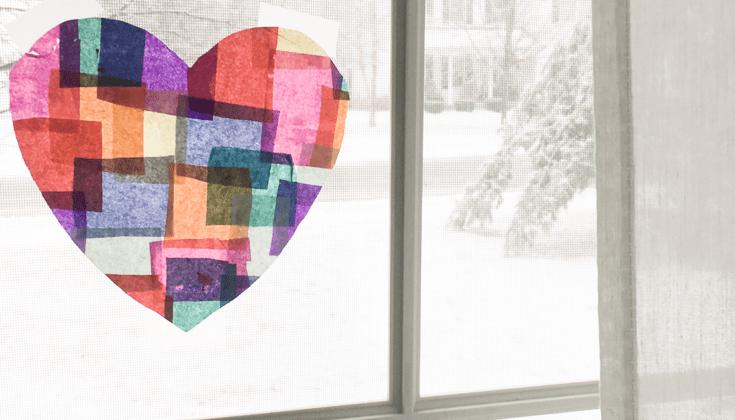 Valentine's Day Crafts | DIY Heart Suncatchers