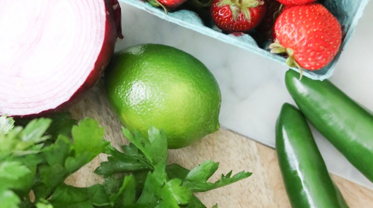 Eat Healthy, Eat Local | Fresh Strawberry Salsa
