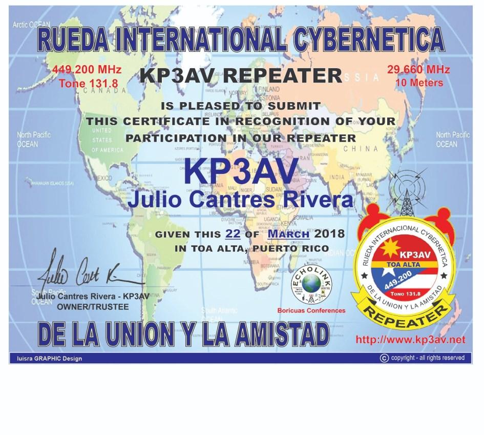 IMG 20180422 WA0001 - Nuevo Certificado para los Radioaficionados