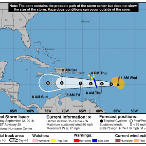 150114 5day cone no line and wind 300x300 1 - Boletín Tormenta Tropical Isaac, martes 11 de septiembre de 2018, 5:00pm