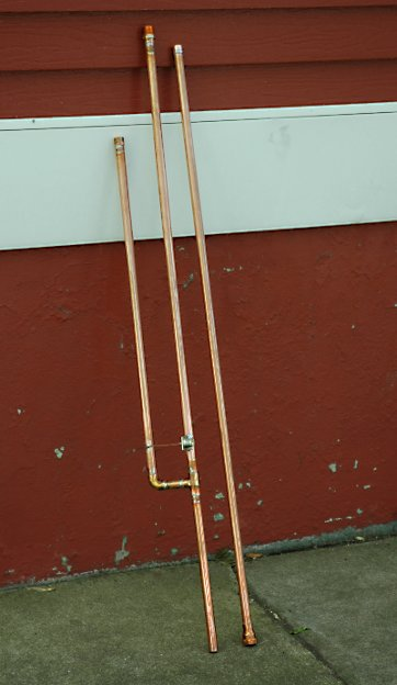 Airband J Pole disassembled - Antena J Pole para la banda de Aviación (banda aérea) 118-128 MHz