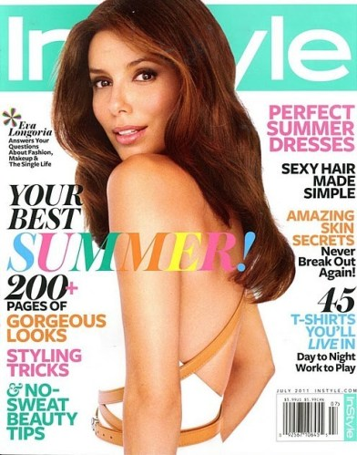 Eva Longoria July 2011 Instyle Cover