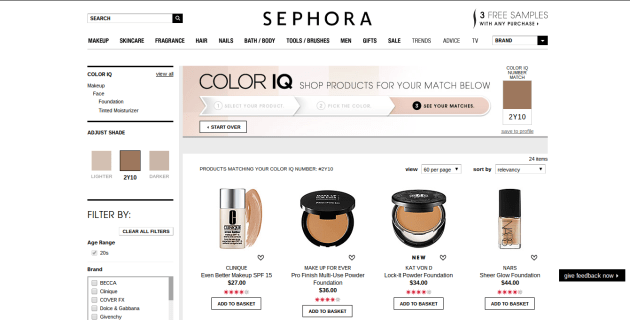 Sephora Color IQ Matches