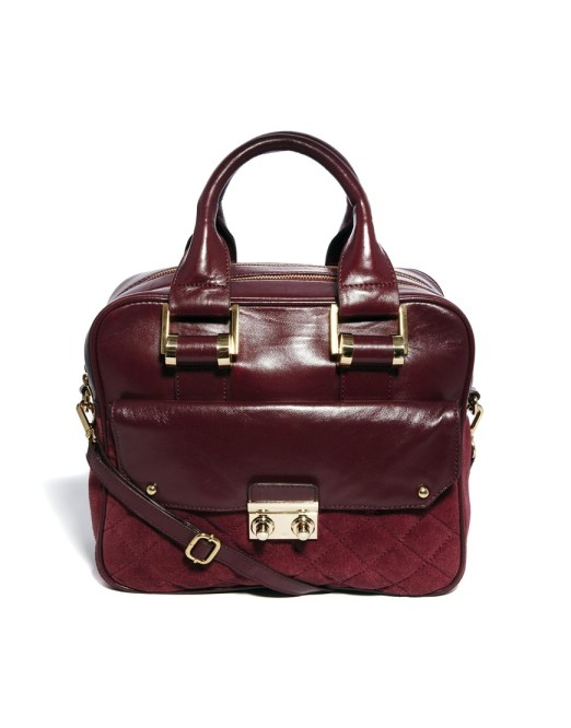 ASOS Collection Leather Boxy Bag With Front Quilting, $118.13