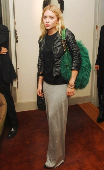 ashley-olsen-maxi-skirt-black-tee-leather-jacket