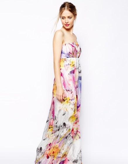 Floral Bandeau Maxi Dress, ASOS, $124