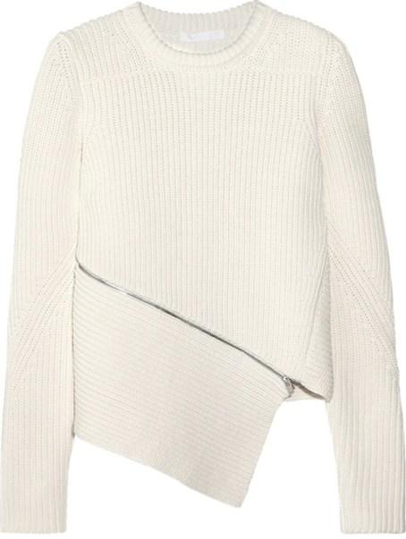 Alexander Wang Ivory Asymmetrical Zip Pullover $595