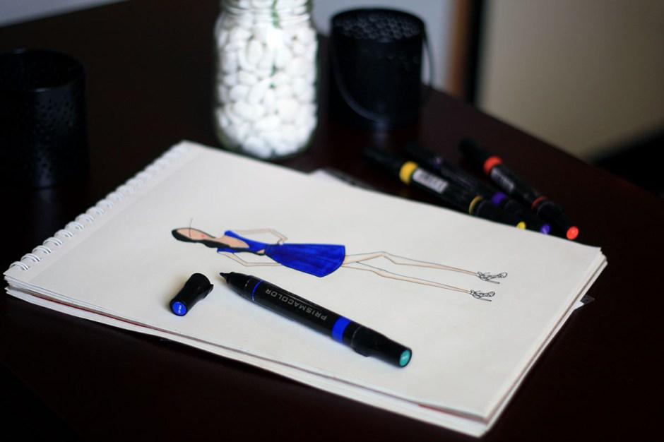 Andrea-Fenise-Blue-Dress-Sketch-2
