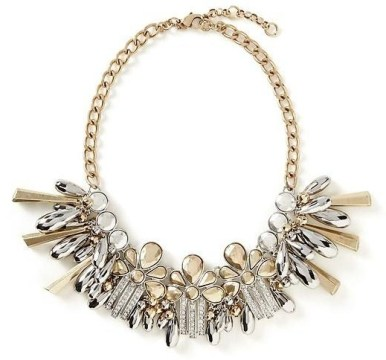 Banana Republic Metal Mashup Statement Necklace $98