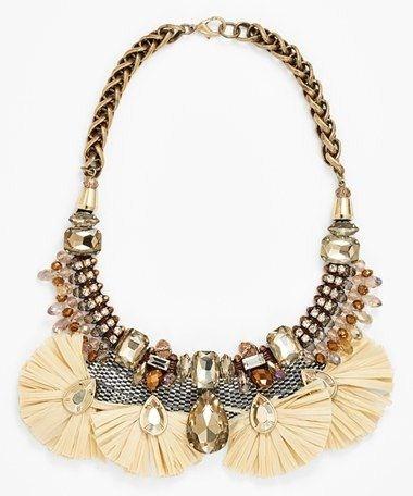 Berry Crystal Bib Necklace $68