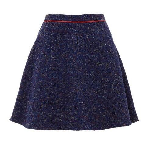 Yumi Blue Boucle skirt $33