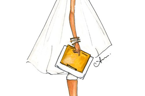Anum Tariq Alice + Olivia Fashion Illustration