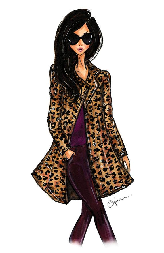 Anum Tariq Leopard Coat Illustration