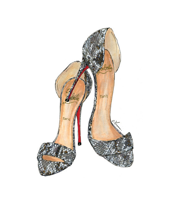 Anum Tariq Python Louboutins Fashion Illustration