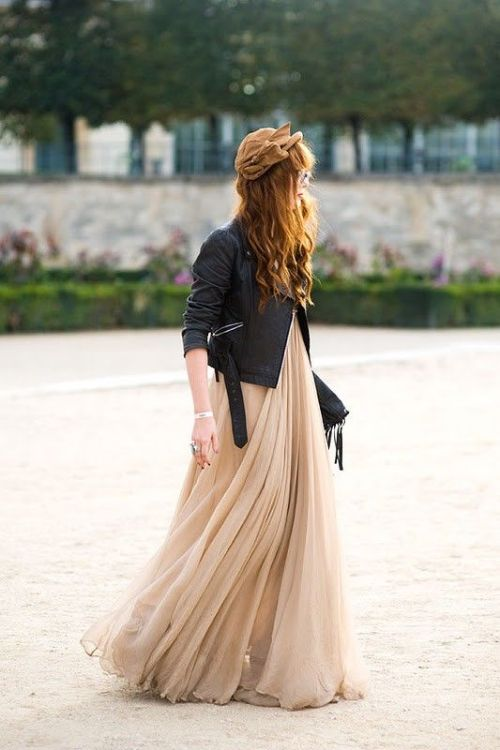 maxi dress + moto jacket-5