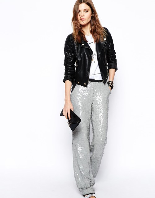 ASOS Sequin Wide Leg Pants