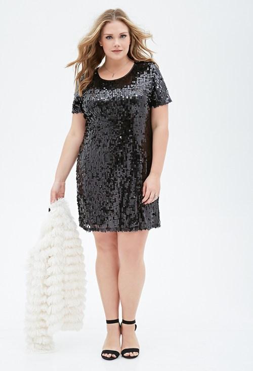 Forever-21-Plus-Sequin-Shift-Dress