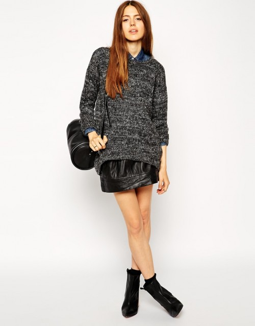 ASOS Sweater In Slouchy Marl