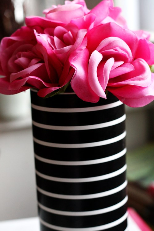 Diy Striped Vase Cover Kp Fusion