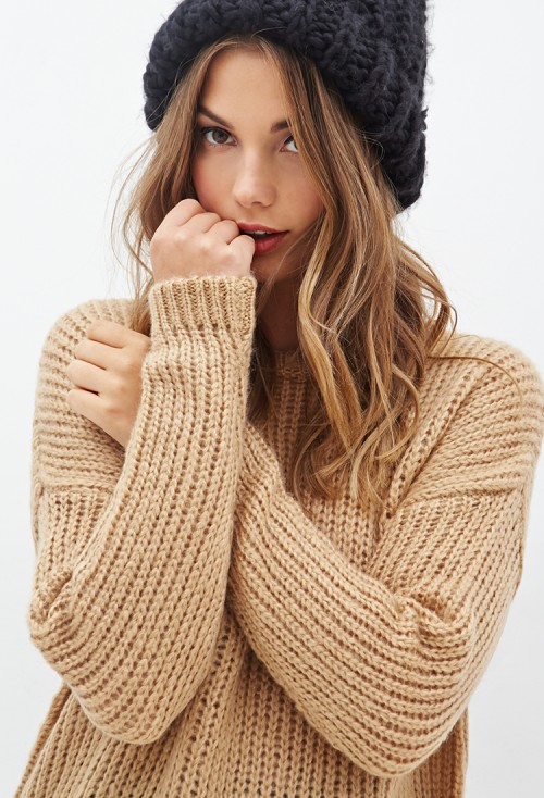 Forever-21-Drop-Sleeve-Sweater-2-slouchy-knit-sweater