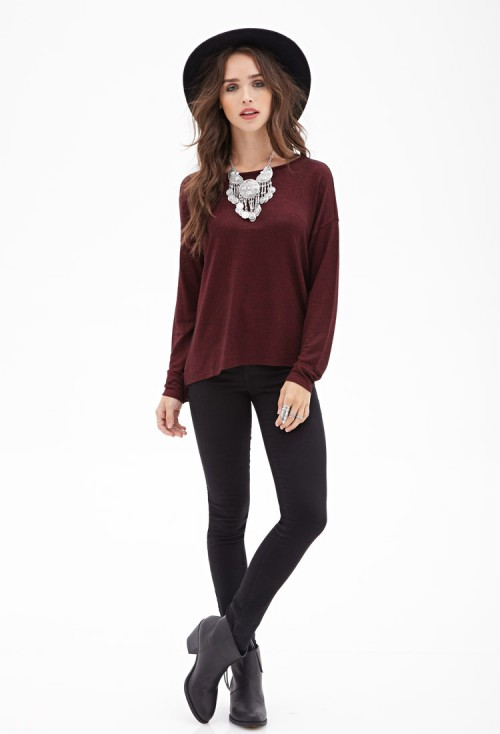 Forever-21-Oversized Marl Top-slouchy-knit-sweater