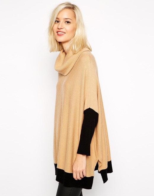 River Island Blocked Cowl Neck Jumper