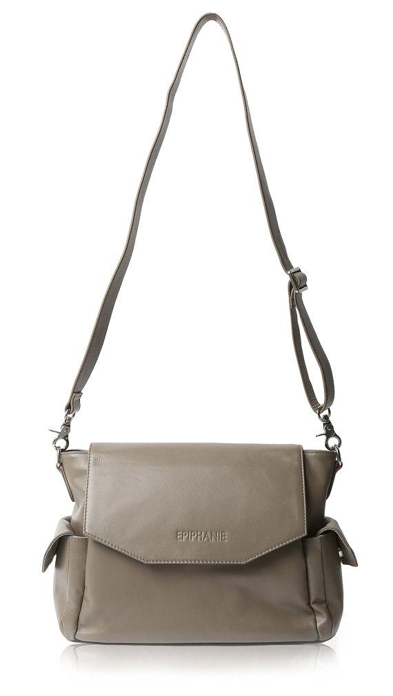Epiphanie Chelsea Grey Leather Camera Bag