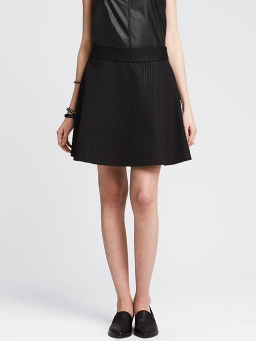 Banana Republic Full Textured Skirt