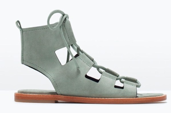 zara leather roman sandal
