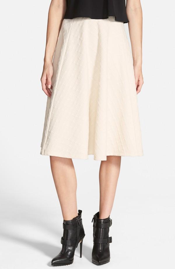 J.O.A. Textured Midi Skirt