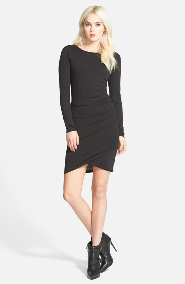 Tildon Ruched Long Sleeve Dress
