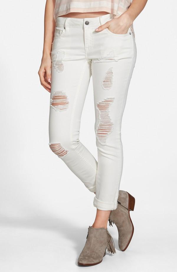 Vigoss 'Tomboy' Destroyed Skinny Jeans