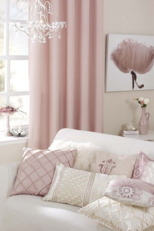 pink and white room