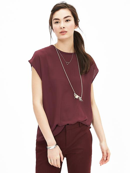 Banana Republic Cap-Sleeve Crepe Top