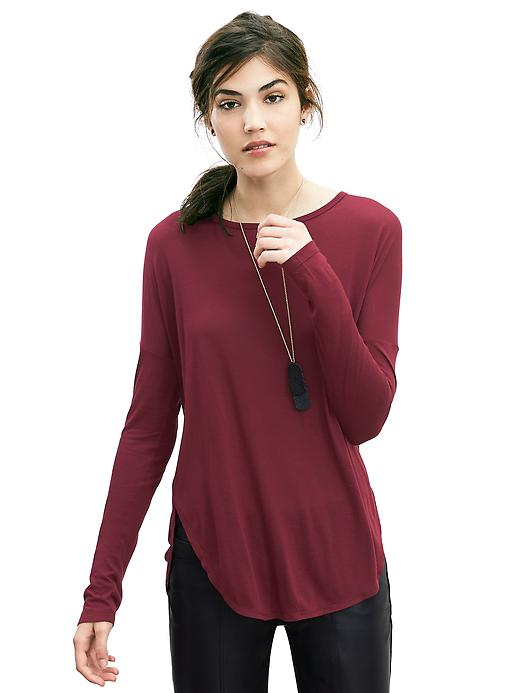 Banana Republic Dolman-Sleeve Shirttail Tee