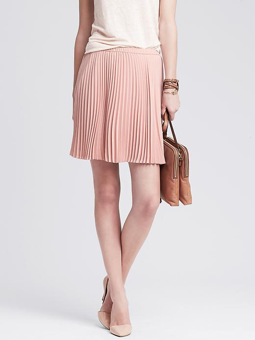 Banana Republic Soft Pleated Skirt