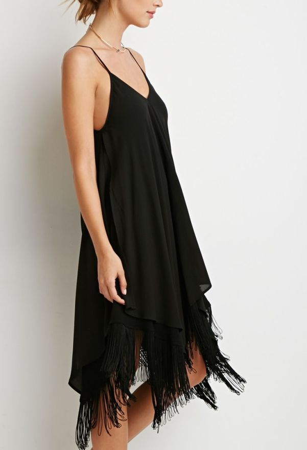 Forever 21 Fringe Trapeze Cami Dress